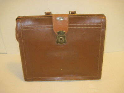 Old Vintage Tommy Traveler Leather Dr. Bag Satchel Brief Case Luggage Bag