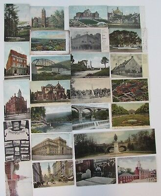 Lot 25 Pennsylvania Postcards Cambridge Springs Allentown Gettysburg Franklin PA