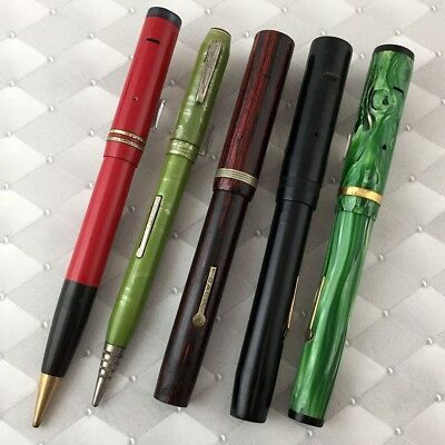 Lot of Fountain Pen and Pencil Parts many brands NO RESERVE