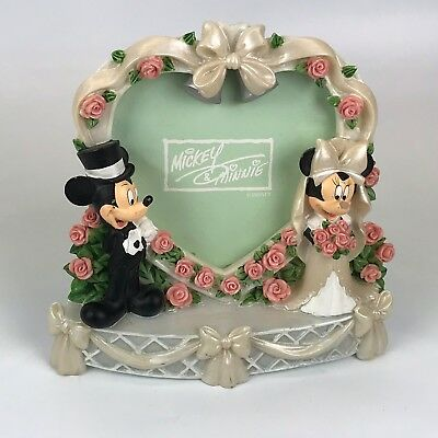 Disney Wedding Picture Heart Frame Mickey and Minnie Mouse