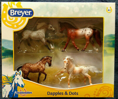 Breyer 1:32 Stablemates 4-Pack Dapples & Dots Model Horse NEW w/ FREE US Ship!!!