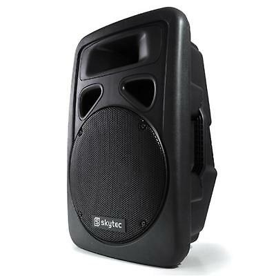 Top Enceinte Amplifiee Dj Pa Skytec Subwoofer 38Cm Moniteur 2 Voies Karaoke Abs