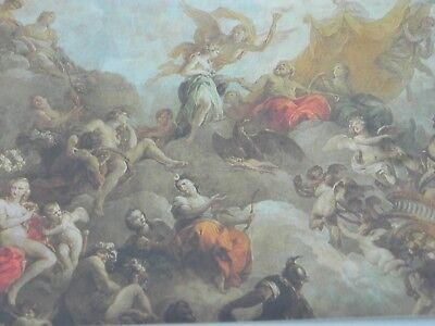 Chateau De Versailles, The Ceiling of Hercules Drawing Room Postcard