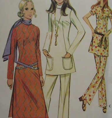 Vintage Sewing Pattern Misses Tunic Top Pants Size 12 McCalls 2629