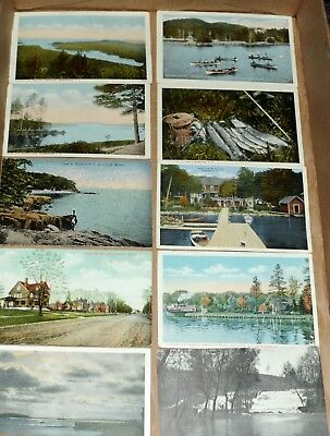 Lot 102 Vintage Postcards Rare Motel Hotel PCs Belfast Maine Trains +More USA