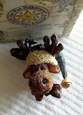 Boyds Resin WEE FOLKSTONE~#25808 JINGLE MOOSELBEARY ORNAMENT~2E~NEW w/BOX
