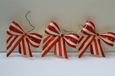 Pack Of 6-13cm Glitter Candy Cane Christmas Decorations Rose Gold//White BA197