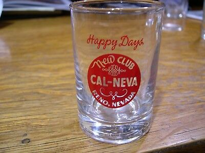 "3 1/2"" ""short"" Cocktail Glass, The New Club Cal Neva, Reno, Nv."