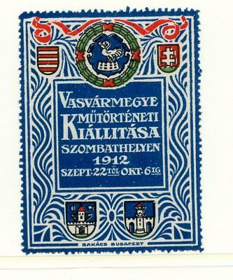 World EXPO Poster Stamp 1912 Budapest ironworkers art Show Hungary Art Nouveau