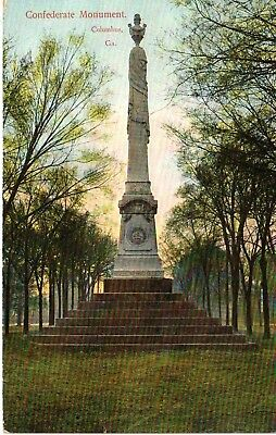 1908 The Confederate Monument in Columbus, GA Georgia PC