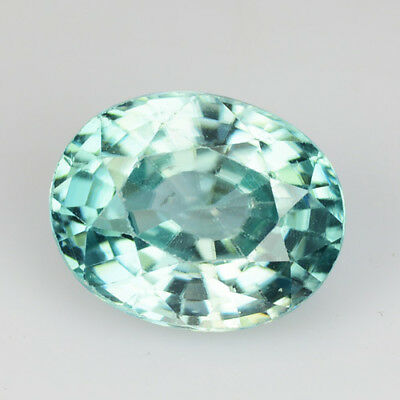 1.55Ct TOP MOST AWESOME ! LUSTROUS BEAUTIFUL COMBODIAN BLUE ZIRCON