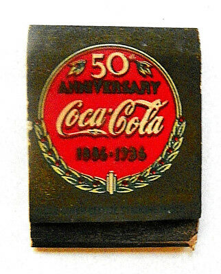 "1936 50th ANNIVERSARY COCA-COLA ~ 1886-1936"" FULL MATCHBOOK"