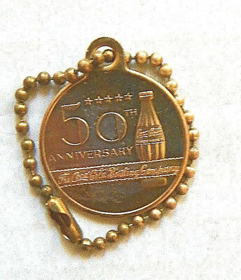 (LAST ONE) 1957 50th ANNIVERSARY OF THE COCA-COLA BOTTLING COMPANY BRASS COIN