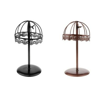 2x Vintage Design Metal Hat Rack Cap Wig Holder Free Standing Display Stand