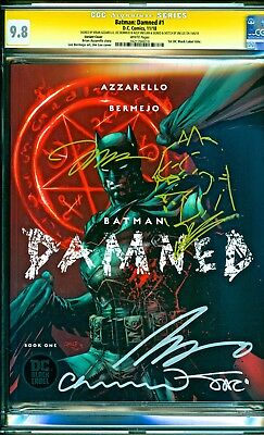 Batman Damned #1 Sketch Jim Lee Variant Signed Brian Azzarello Bermejo CGC 9.8
