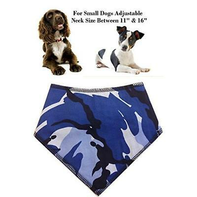Spoilt Rotten Pets (S2) Branded Blue Camo Dog Bandana - Adjustable Neck to Fit S
