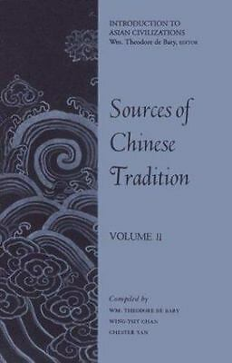 Sources of Chinese Tradition, Volume II, ,0231086032, Book, Acceptable