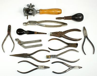 Assorted Vintage Clockmaker Tools - Some Specialty Tools Ll366