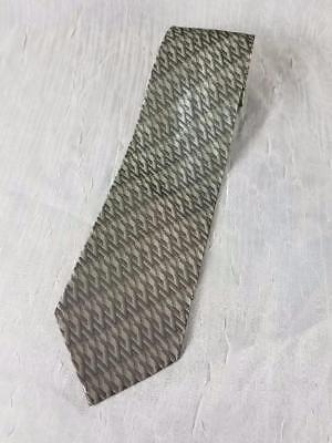 "Hugo Boss Necktie Men's 100% Silk Tie Silver Gray 60""x4"" Made In Italy"