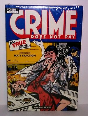 Crime Does Not Pay Vol 1 Dark Horse Archives Hardcover Sealed Golden Age Comics