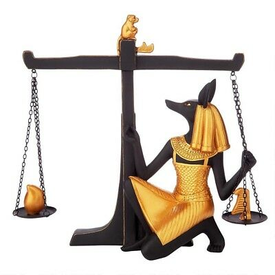 Egyptian Anubis Weighing of the Heart Ceremony God of the Underworld Statue
