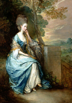 Portrait of Anne by Thomas Gainsborough Oil painting Giclee Art Print L1901