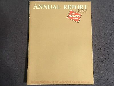 "The Milwaukee Road 1967 Annual Report●32 pages●8½"" x 11""●Exc Condition●CMStP&P"