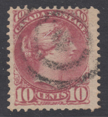 CANADA 40a Used 10c magenta Small Queen P12 $80.00