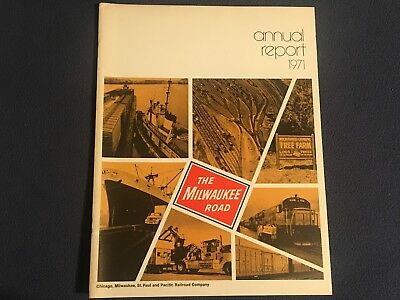 "The Milwaukee Road 1971 Annual Report●28 pages●8½"" x 11""●VG Condition●CMStP&P"