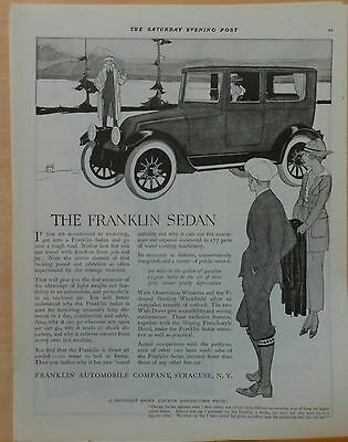 1919 ad for Franklin autos - Franklin Sedan lightweight and flexible, enclosed