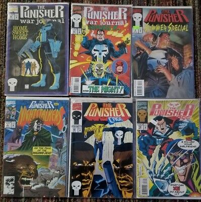 The Punisher Comic Books (6 total)
