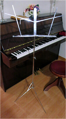 The Hamilton No 400-N Folding Music Sheet Stand, Chromed, up to 4ft. Adjustable