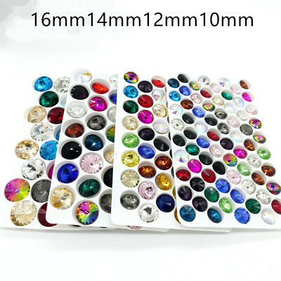 Hot mixed Color XILION ELEMENTS Crystal glass Rivoli loose Beads10mm12mm14mm16mm