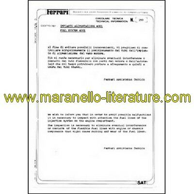 1980 Ferrari technical information n°0359 400i (Fuel system) (reprint)