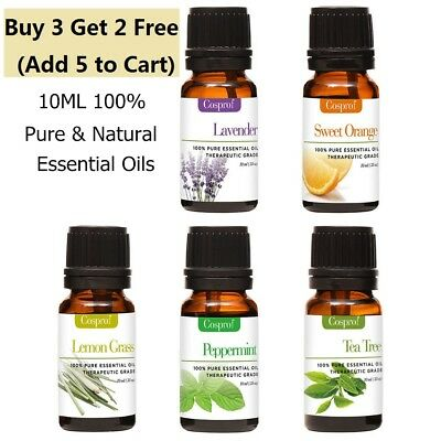 Essential Oils 100% Pure Natural Aromatherapy Oils 10ml Fragrance Aroma