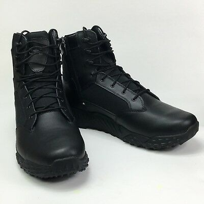 """Under Armour Stellar Tactical 8"""" Side Zip Boots Black Size 11 UA-1303129001"""