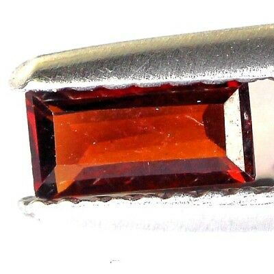 #0.32 cts. 6.1 x 3.2 mm. UNHEATED NATURAL RED ALMANDINE GARNET RECTANGLE AFRICA