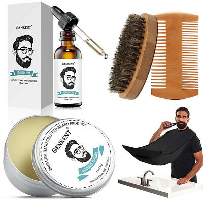Beard Grooming & Trimming Kit - Beard, Mustache, Boosts Growth - Beard Whole Set