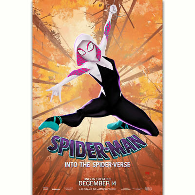 C099 Spider Man Into the Spider Verse Gwen Stacy Movie Film Poster Art Decor