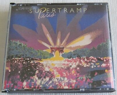 SUPERTRAMP PARIS 2 CD BOX MADE IN BRAZIL 1st PRESSING 1989 WITHOUT BARCODE