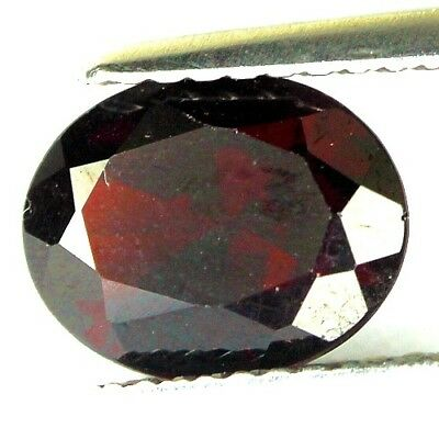 #1.82 cts. 9.1 x 7.2 mm. UNHEATED NATURAL RED ALMANDINE GARNET OVAL AFRICA