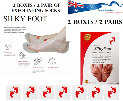 AU save $$$  2x PAIRS Silky Baby Foot Exfoliation Milky Feet Peel Skin Foot Mask