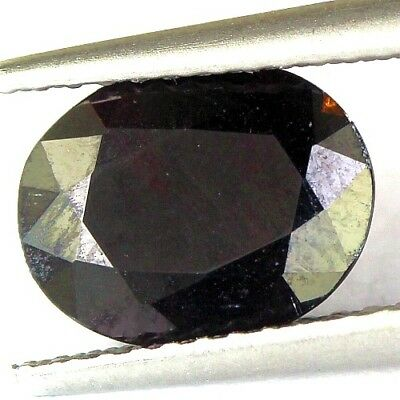 #1.95 cts. 9.1 x 7.1 mm. UNHEATED NATURAL RED ALMANDINE GARNET OVAL AFRICA