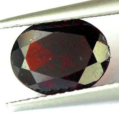 #1.71 cts. 9.3 x 7.3 mm. UNHEATED NATURAL RED ALMANDINE GARNET OVAL AFRICA