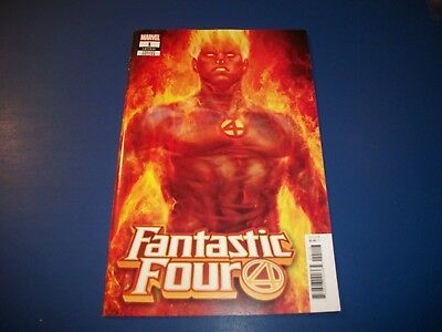 Fantastic Four #1 Artgerm Lau Torch Variant NM- Beauty