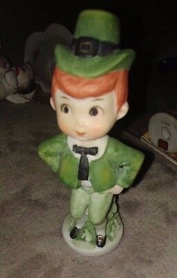 """Vtg  App 4"""" Lefton St Patrick's Day Young Boy Lad Red Haired Green Outfit"""