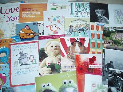 300 Birthday / Blank / Ages / Relations/ Greeting cards ~ free postage