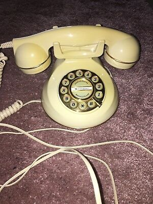 Astral The Knightsbridge CREAM WIRED Vintage Retro Telephone - working