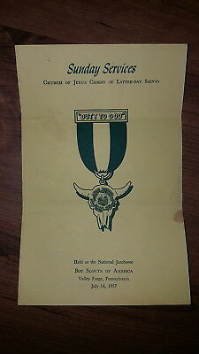 BSA, 1957 Boy Scout National Jamboree LDS Sunday Order of Services