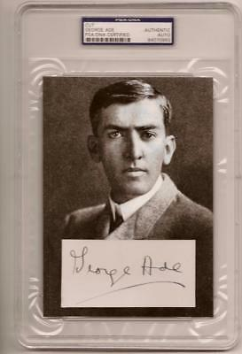 ~GEORGE ADE Signed 5X7 Display PURDUE BOILERMAKERS PSA/DNA Certified Authentic~